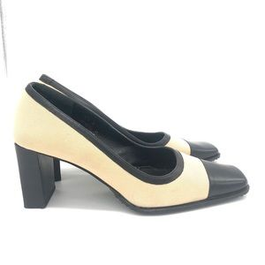Coach Leather&Canvas material Pumps Made in Italy